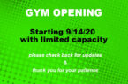 gym open 9-14-20