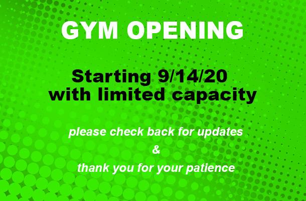 gym open 9-14-20